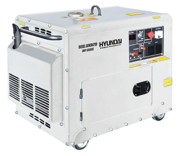 Мотогенератор дизелов обезшумен DHY6000 SE - 5,0 kW, ел. стартер HYUNDAI