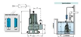 "Помпа потопяема дренажна за фекални и отпадни води 6-54 м3/ч, 16-1 м, 2 1/2"" Pedrollo MCm 20/50 10MT"