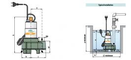 Италианска потопяема дренажна помпа за отпадни води CITY PUMPS COBRA 80M / 500 W- 2 години гаранция