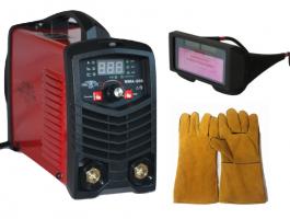 Инверторен електрожен ММА200 - IGBT - ARC - VRD - 6.2 kVA - 220V - 200 реални ампери - горещ старт - цифров LED дисплей - соларни очила - маска за електрожен - ръкохватка  -  кабели - ръкавици - електроди до 4 мм - високо качество - 1 година гаранция |