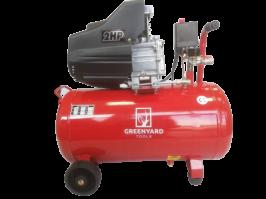 Професионален компресор за въздух Greenyard  GY- AC50  - Резервоар  50 литра -  8 бара - 178 л/мин - 2 манометъра - 100% МЕДНИ НАМОТКИ - ВИСОКО КАЧЕСТВО   Rudimpex.com