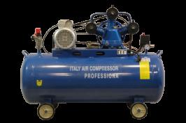 Професионален Компресор за въздух  Italy Compressor Professional - 100 литра резервоар - маслен - триглав - 8 бара, дебит на въздух 360 л/мин, 3000 W   Rudimpex.com