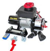 Високо Качество електрическа лебедка за джипове GY6000 2721кг / 6000 LB - 12V - 5.2 к.с - 3.8 KW - 27 kg - стоманено въже 24 метра - безжично дистанционно - дистанционно джойстик - кука - алуминиев водач | Rudimpex.com